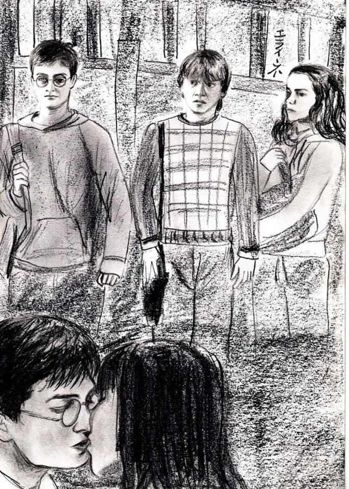 Katie Leung, Rupert Grint, Emma Watson, Daniel Radcliffe par elaine13sp